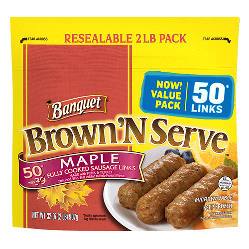 Brown 'N Serve Maple Links