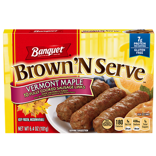 Brown 'N Serve Maple Sausage Links