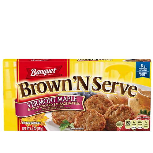 Brown 'N Serve Maple Sausage Patties