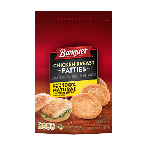 Chicken Breast Patties (Bag)