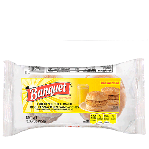 Chicken & Buttermilk Biscuit Mini Sandwiches (2 Serving Pack)