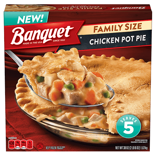 Delicious Pot Pie Meals Banquet