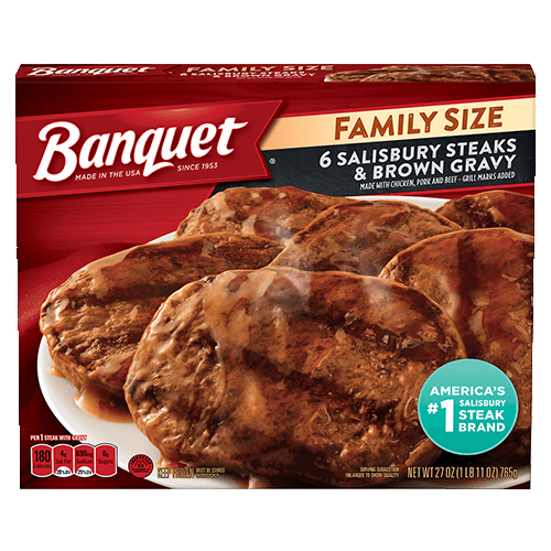 Family Size Salisbury Steaks & Brown Gravy