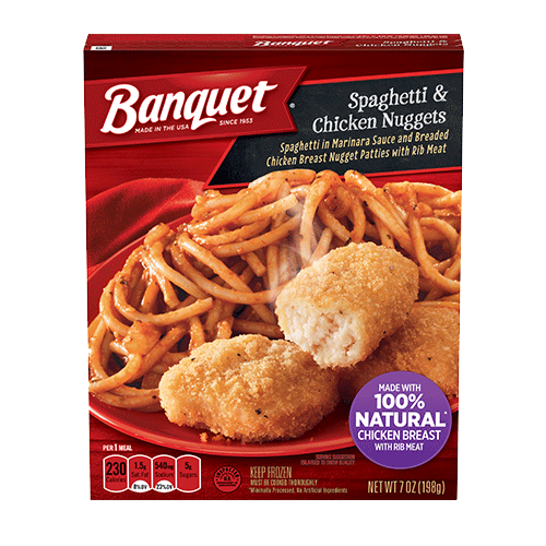 Spaghetti & Chicken Nuggets Meal