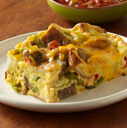 Tex-Mex Bagel Bake